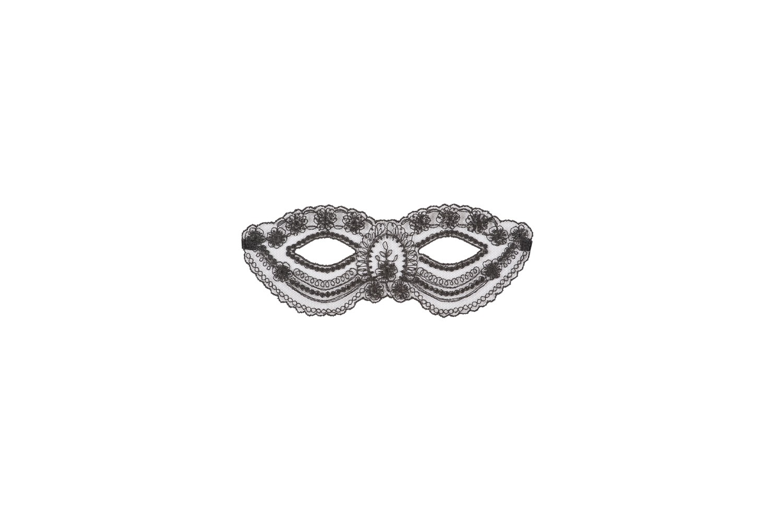 Venezianische Maske in Schwarz