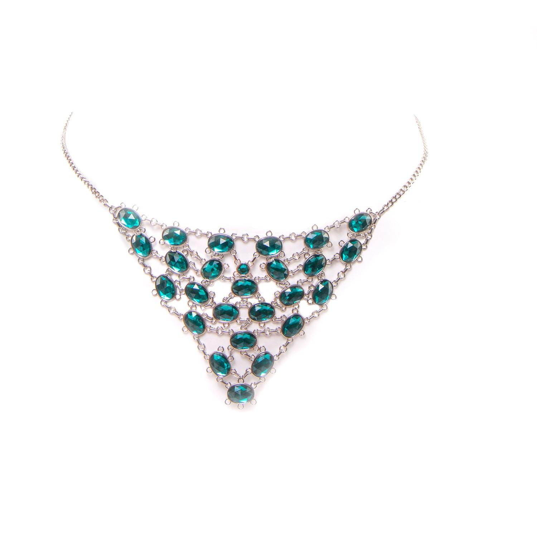 Ketten-Slip in Smaragd-Silber von Escora