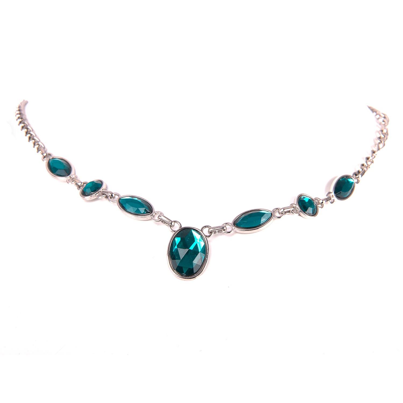 Escora Halskette in Smaragd-Silber