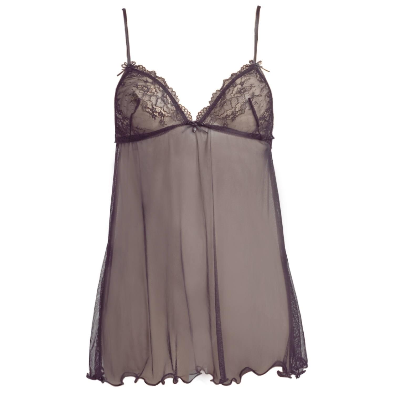 zartes Kleid mit verspielter Spitze in schwarz