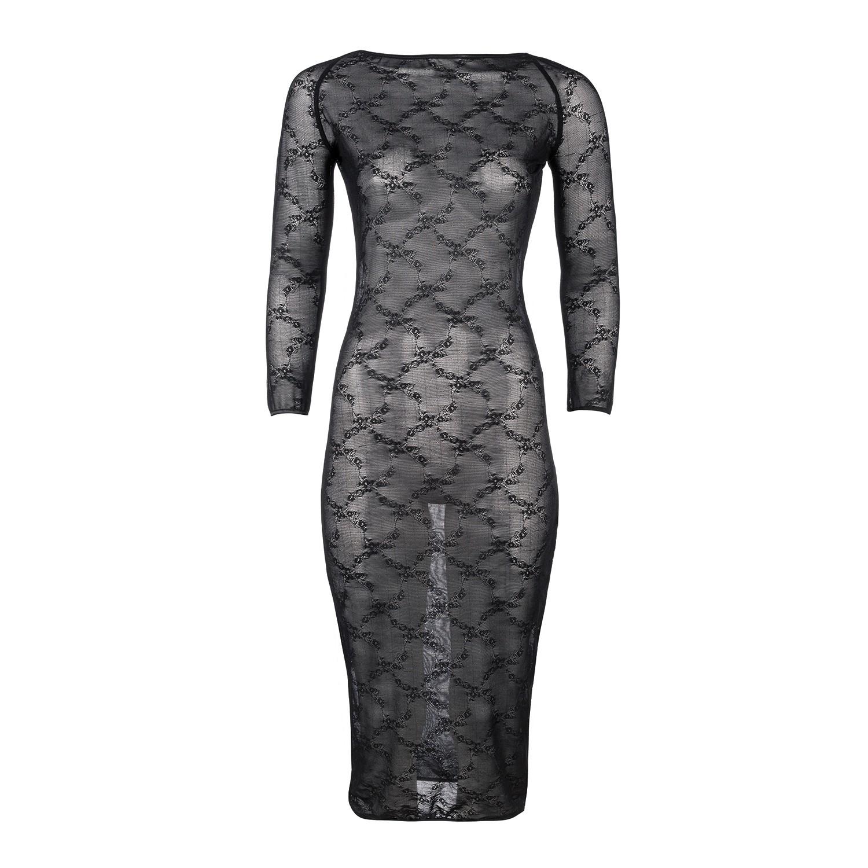 Freizügiges Kleid in Schwarz