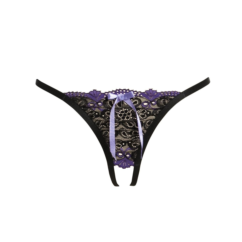 reizvoller String ouvert in schwarz und lila
