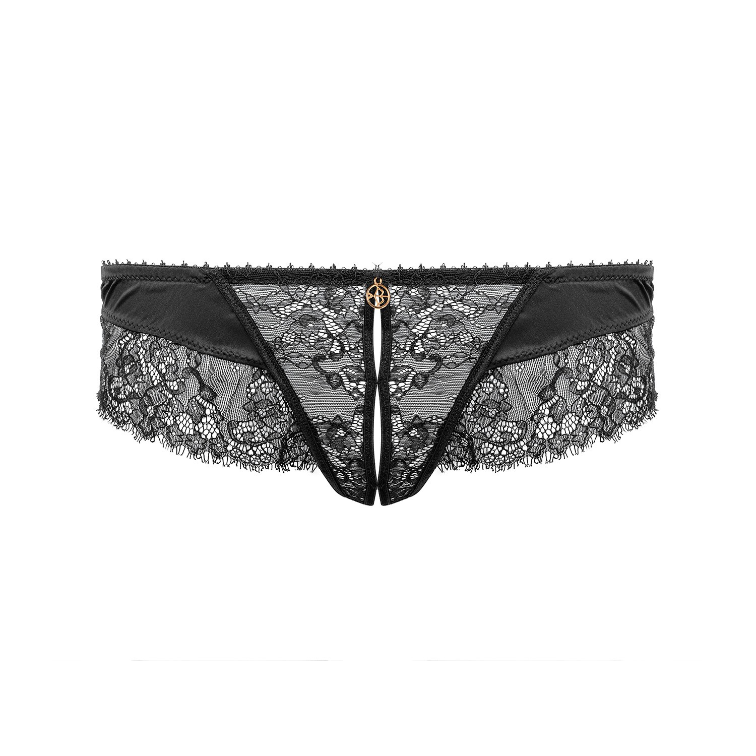 Erregende String Panty Ouvert on Escora in Schwarz