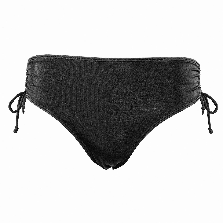 Bikini Panty mit Kordelzug in Schwarz
