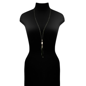Lange Halskette mit echter Perle