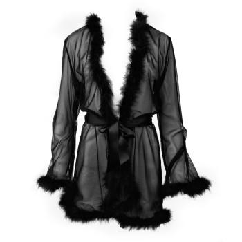 Zarter Mantel mit Federn