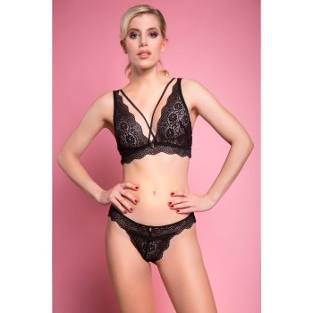 Luxus Dessous Set MC16 Annabell: Panty & Triangel BH
