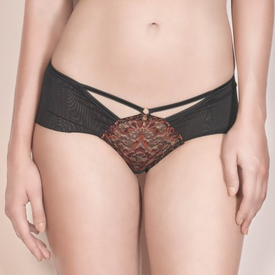 Grazia Luxus Panty in Schwarz/Orange