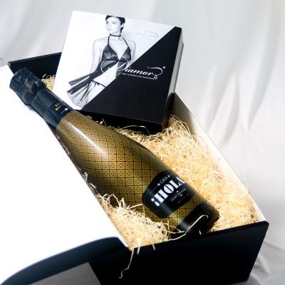 Set-1: Geschenk der Sinne Just For You & Cava Hola! Schaumwein 0,75 l – Barcelona Brands