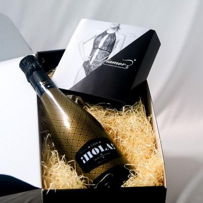 Set-2: Geschenk der Sinne Just For You & Cava Hola! Schaumwein 0,75 l – Barcelona Brands