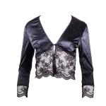 Luxus Dessous Jacke in Schwarz