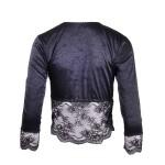 Luxus Dessous Jacke in Schwarz | Rückansicht