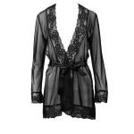 Eleganter Escora Mantel aus Spitze und Tüll in Schwarz