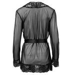 Eleganter Escora Mantel aus Spitze und Tüll in Schwarz hinten