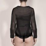 Verspielte Bluse, hinten Model