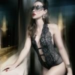 Luxuriöser Escora Body Slip Ouvert in Schwarz Model