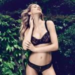 Schwarzer Luxus Panty String Ouvert von Escora | Image