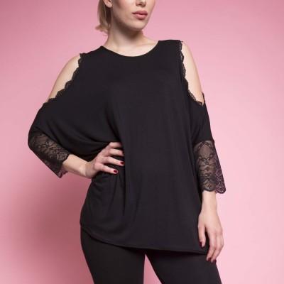 Shirt mit Spitze von Coco Cavaliere / Escora
