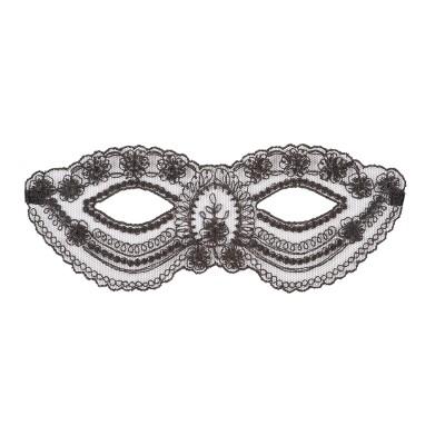 venezianische Maske in Schwarz von Escora