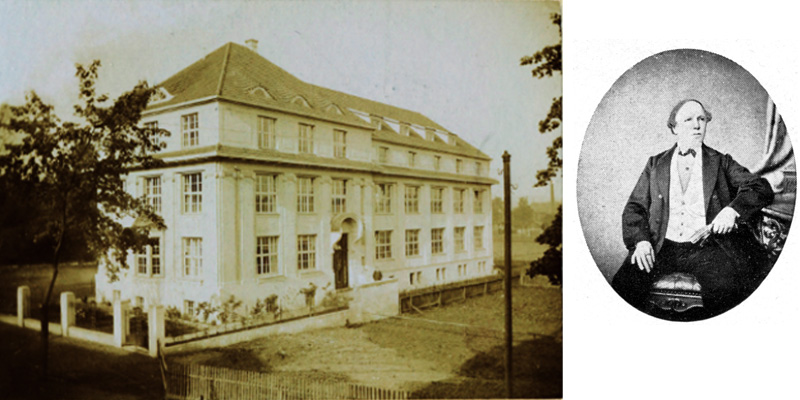 Das Firmengebäude und Elias Schmidt
